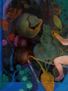 Liefhebber, 2015, 15x15, gem.techniek op mdf